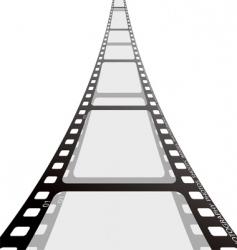 film strip reel vector image vector image