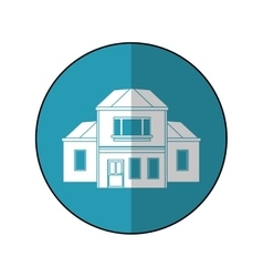 house traditional detailed modernn blue circle vector image