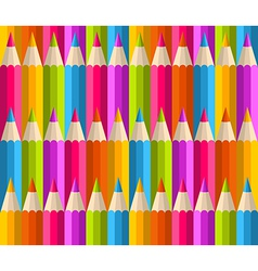 Rainbow pencils pattern vector image