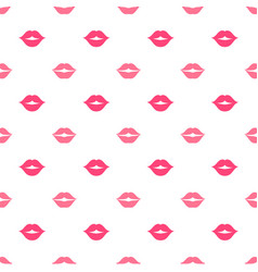 seamless pattern with women lips vector image vector image
