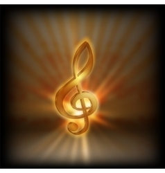 treble clef with blurred background vector image vector image