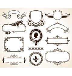 vector set of ornate frames vector image vector image