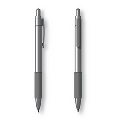 white realistic set pen vector image vector image