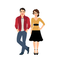 young handsome couple vector image vector image