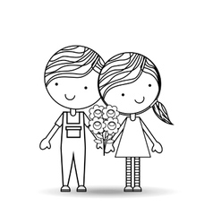 couple relationships design vector image