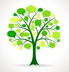 Green Single Speech Bubble Tree vector image vector image