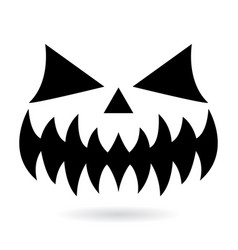 scary halloween pumpkin face design ghost vector image