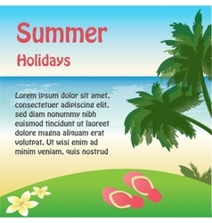 summer holiday web and print template - tropical vector image vector image