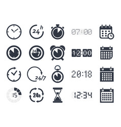 time clock icons vector image