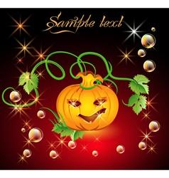 amusing pumpkin vector image