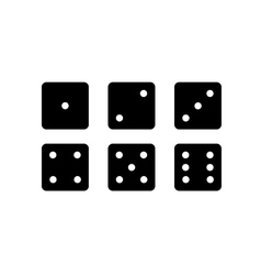 Dice Set vector image