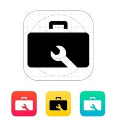 Drone repair kit box icon vector image