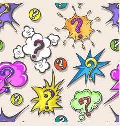 pop art questions pattern vector image vector image