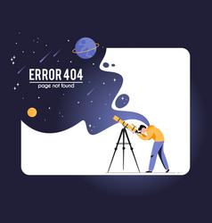 404 error page not found isolated in white vector