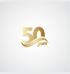 50 years anniversary celebration elegant gold vector