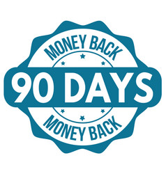 90 days money back label or sticker vector image