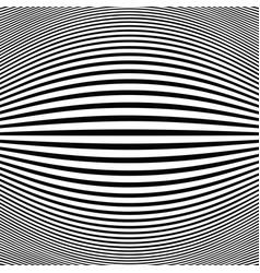 abstract black stripe line op art fish eye vector image