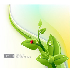 Abstract ecology background vector