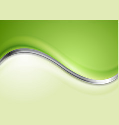 Abstract silver wave background vector