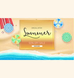 Advertising banner sales with typography summer vector