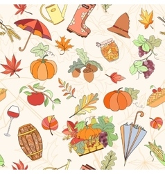Autumn seamless pattern vector