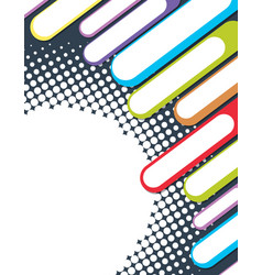 Background design with colorful bars vector