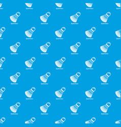 badminton pattern seamless blue vector image