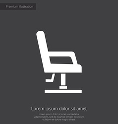 Barber chair premium icon vector