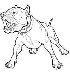 Barking dog vector