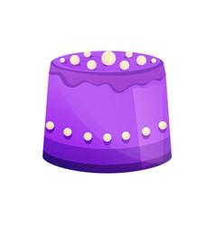 beautiful delicious decorative cake with glaze vector image