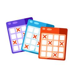 bingo cards icon for online games vector image