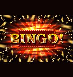 bingo neon text vector image