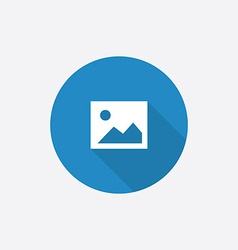 Blank photo Flat Blue Simple Icon with long shadow vector