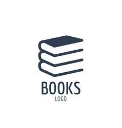 Books icon sign Icon or logo design with three vector