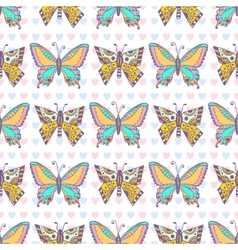 Butterflies pattern Hand drawn seamless vector