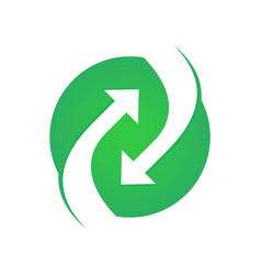 circular green circular flow arrow symbol logo vector image