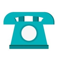 classic rotary telephone icon vector image