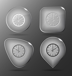 Clock glass buttons vector