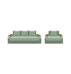 Colorful icon chair and sofa collection of vector