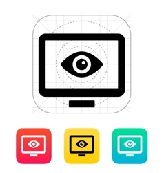 Computer monitoring icon vector image