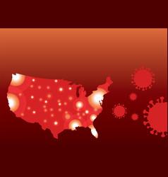 Covid19-19 coronavirus map united states vector