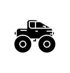 Cross-country vehicle - jeep icon vector