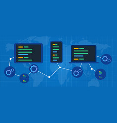 cross-platform multi device software web connected vector image