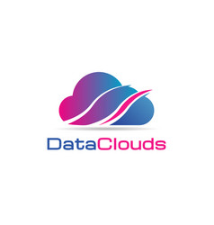 data clouds logo icon symbol vector image