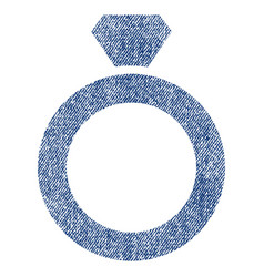 Diamond ring fabric textured icon vector