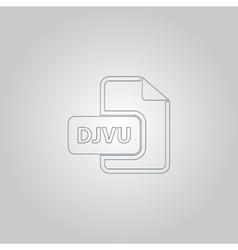DJVU ebook file extension icon vector