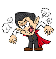 Dracula character flare up halloween day isolated vector