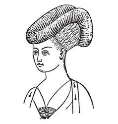 Elizabeth of yorks mitre head-dress vintage vector