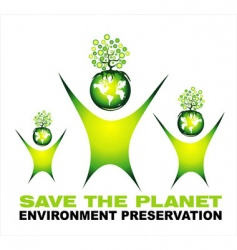 environment saving background vector image