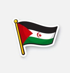 Flag sahrawi arab democratic republic vector